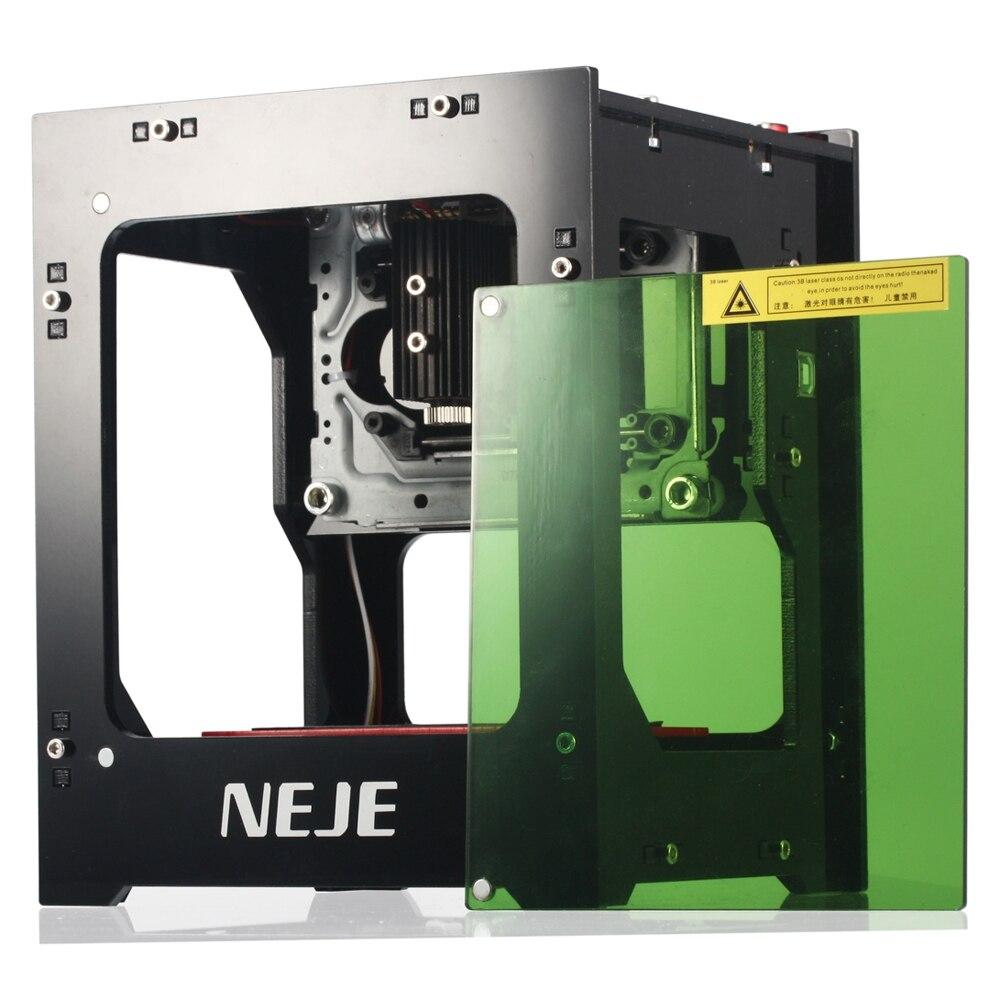 NEJE 1000 MW cnc crouter cortador láser cnc mini máquina de grabado del cnc DIY imprimir grabador láser de alta velocidad con protección gafas