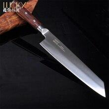 9,5 дюймов Японии сашими Ножи Германия 1,4116 Сталь лезвия Супер острыми прочные двойные конические мясо/рыба/овощи резак антипригарным 12