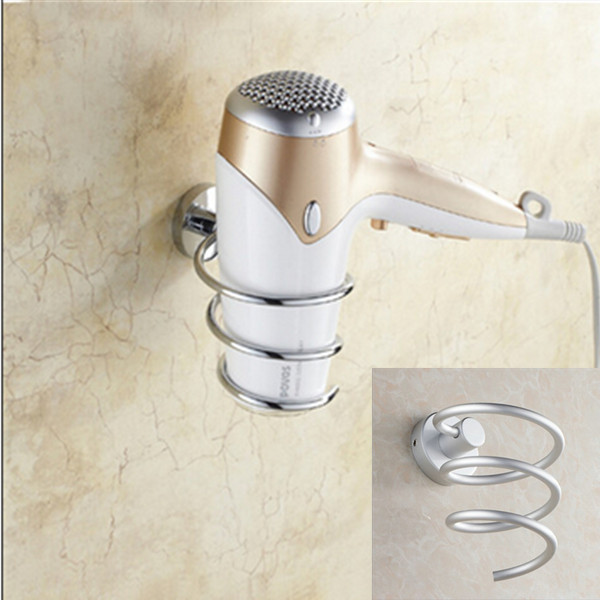 Bathroom Shelf Hair Dryer Rack Wall Mounted Hair Dryer