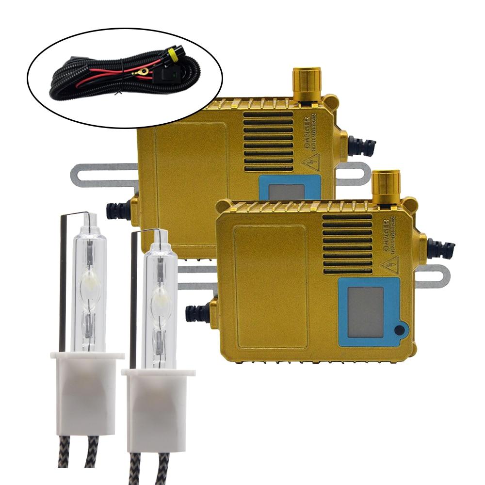 DUU 200 W Ballast HID ampoule au xénon 12 V H1 H3 H7 H11 6000 k Auto Xeno lampe de phare écran affichage puissance réglable