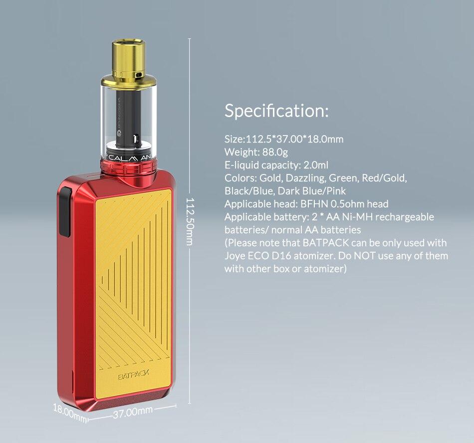 Joyetech BATPACK Vape Kit With Joye ECO D16 Atomizer