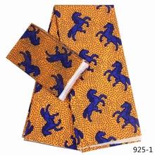 african wax prints fabric silk satin Fabric 2019 high quality ankara 4+2yards chiffon 925-1