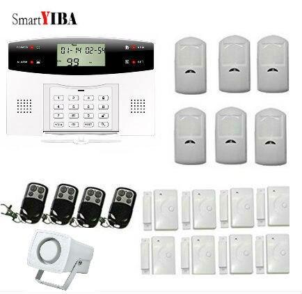 SmartYIBA Home Remote Control Burglar Alarm System Include Door open detector, Motion detector forecum 433mhz wireless magnetic door window sensor alarm detector for rolling door and roller shutter home burglar alarm system