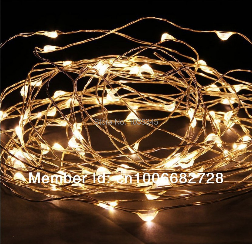 Us 7 99 33ft 10m 100led Copper Wire String Lights Fairy For Outdoor Christmas Wedding Party Decor 12v Dc Adapter Included In Holiday