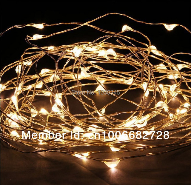 Us 7 99 33ft 10m 100led Copper Wire String Lights Fairy Lights For Outdoor Christmas Wedding Party Decor 12v Dc Power Adapter Included In Holiday