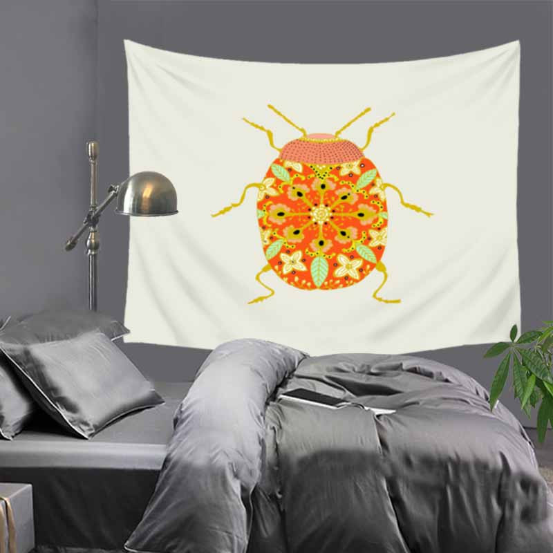 51x60 quot Simple crative art pattern Cozy polyester Indian tapestry hippie mandala wall hanging Bohemian bedspread dorm decor LZJ23 in Tapestry from Home amp Garden