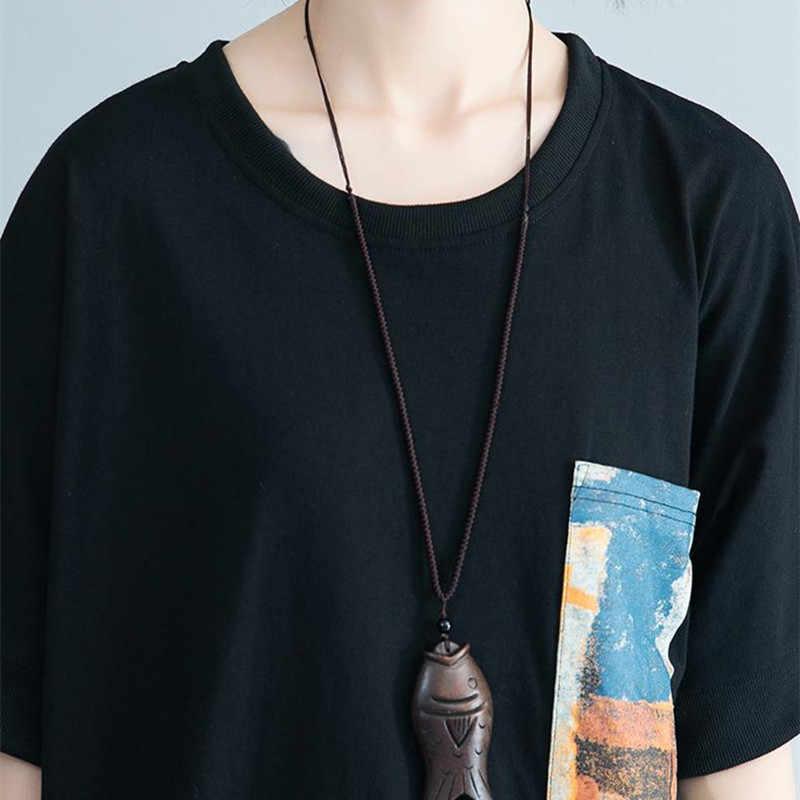 Johnature koreański lato damski zestaw dwuczęściowy topy i spodnie 2019 nowa rozrywka luźne O-neck pulowerowe topy elastyczny pas długie spodnie
