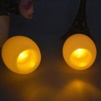 Set von 2 Kreative Runde Ball Flammenlose Led-kerzen Lampe Night Lights Mini Elektronische Kerzenlicht für Hochzeit