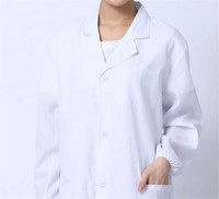 Summer Standard Doctor Clothing Long Sleeve White Nurse Clothes Physician Services White Lab Coat Long Sleeve