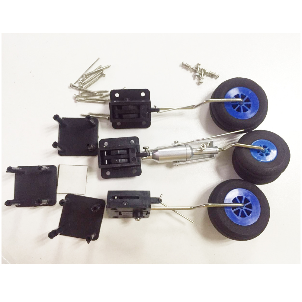 Wholesale DIY Plane Parts Retractable Landing Gear With Wheels Levers Screws 1KG Tolerance For RC Airplane