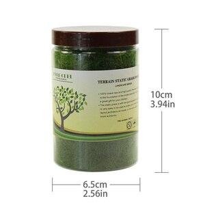 Image 4 - 4 בקבוקי 35g 12mm סטטי דשא אבקת מעורב צבעים ירוק דשא אבקת צאן דשא מחצלת דגם רכבת פריסה CFA4