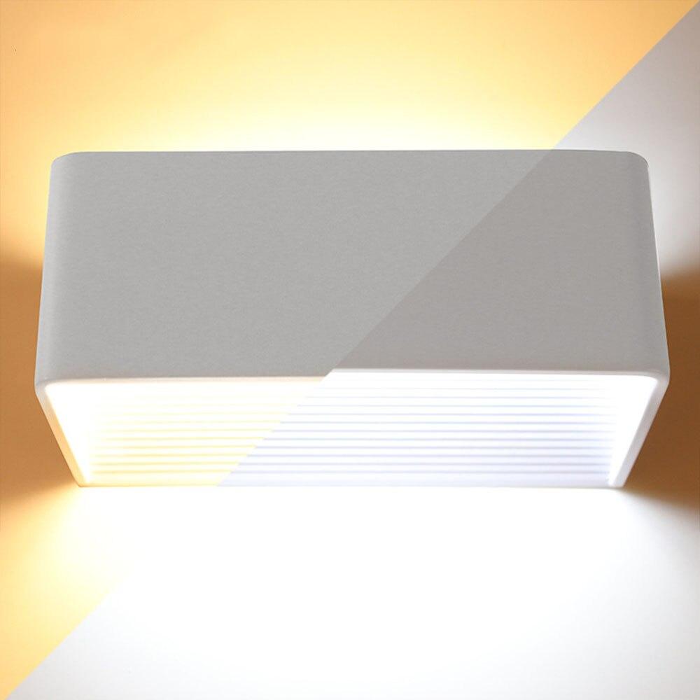 Прямоугольные бра 220 В Алюминий Loft Home Освещение настольные Лампы для мотоциклов вел Белый Акрил Fasion Простой свет Luminaria