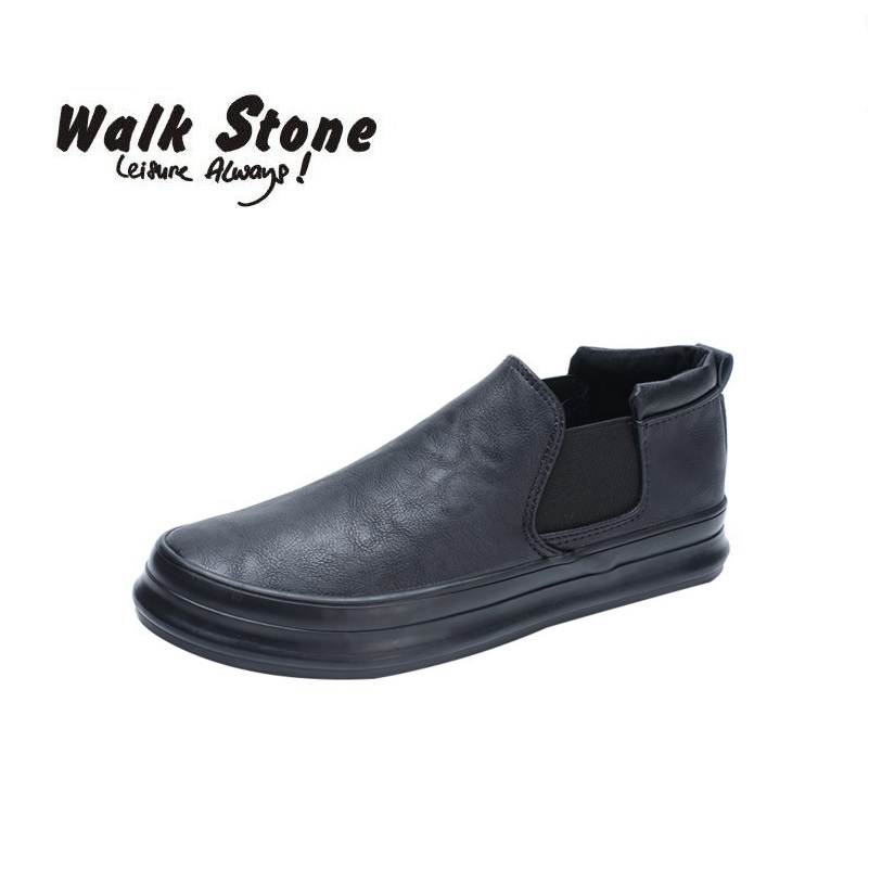 Spring Male Fashion Flat High Top Loafers Elastic Band PU Lather Casual Ankle Boots Superstar Men Vulcanized Shoes Ultras Boosts