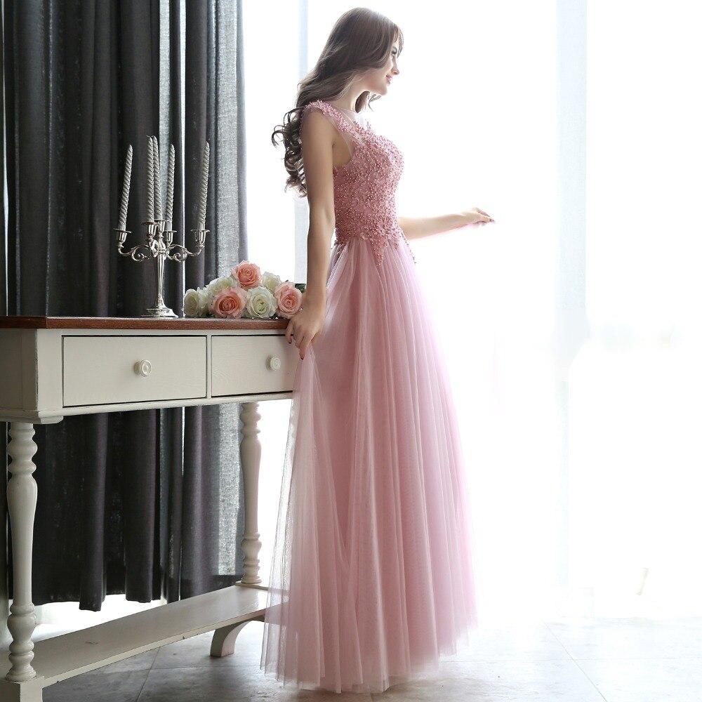gaun malam gaun prom panjang 2018 parti gaun jubah de soiree vestidos - Gaun acara khas - Foto 3