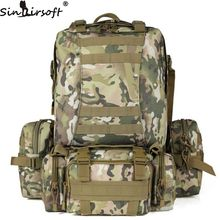 9 Warna Warna! Baru 50L Molle Tactical Backpack Assault Outdoor Tentera Rucksacks Backpack Camping Memburu Beg Besar