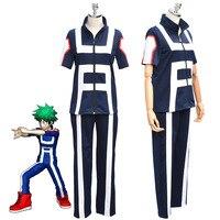 JP Anime Boku no Hero Bakugou Katsuki/Iida Tenya/Todoroki Shouto Cosplay Costume My Hero Academia Sportswear Tops+Pants full set