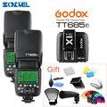 2 шт. Godox Speedlite TT685F 2 4G Беспроводная HSS 1/8000s GN60 TTL камера стробоскопическая вспышка + X1t триггер передатчик для Fujifilm Fuji