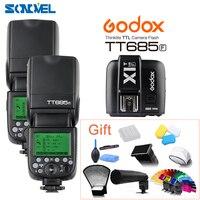 2 шт. Godox Вспышка TT685F 2,4G Беспроводная вспышка для фотокамер Speedlite HSS 1/8000 s GN60 ttl Камера стробоскопическая вспышка + X1t с триггерным управлением д
