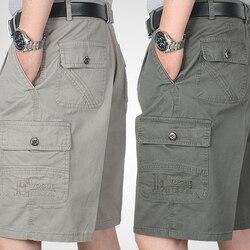 Tasca Allentata Cotone Shorts Degli Uomini di Estate Casual Cargo Dell'esercito Shorts Degli Uomini Vestiti 2019 Bermuda Masculina Corea Del Sud Abbigliamento Casual