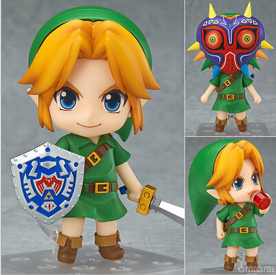 Hot ! NEW 10cm Legend of Zelda Link Majoras Mask FIGURE ONLY Limited-Edition action figure toy Christmas gift with Original box  nendoroid the legend of zelda link majora s mask 3d figure with original box