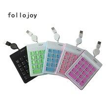 ซิลิโคนแป้นพิมพ์ตัวเลขแป้นพิมพ์เปลี่ยน ultra บาง 18 key air touch พอร์ต USB แบบมีสาย