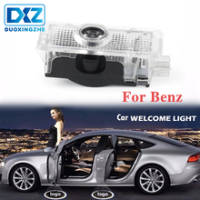цена на DXZ For Mercedes Benz CLA CLSCLA200 CLA220 CLA260 CLS LED Welcome Light Car Door Courtesy Logo Projector Laser Ghost Shadow Lamp