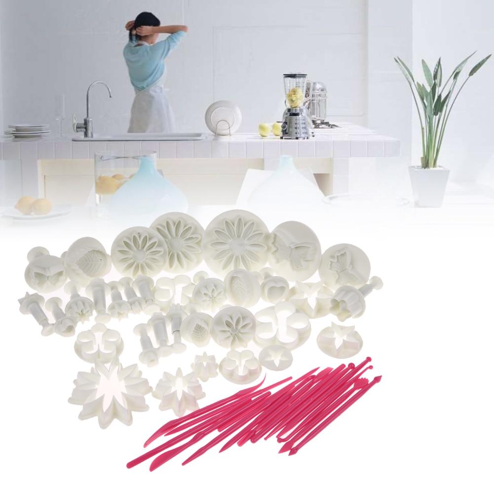 47 Pcs/Sets DIY Sugar Craft Cake Decorating Fondant Icing Plunger Tools Cookie Mold Mould With Food Grade Plastic High Quality стоимость