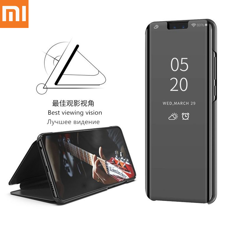 Smart Mirror Phone Case For <font><b>Xiaomi</b></font> <font><b>Redmi</b></font> <font><b>Note</b></font> 8 7 K20 5 6 <font><b>Pro</b></font> 4 4X 8A 6 6A 7A Plus Mi 9 <font><b>SE</b></font> 9T 8 Lite A1 A2 A3 5X 6X Mix 2 Cover image