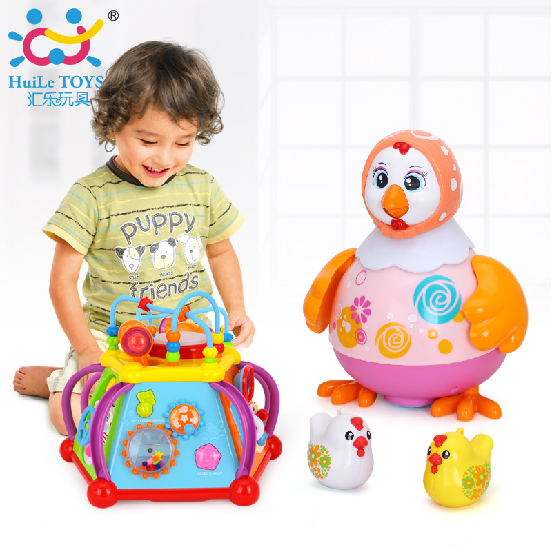 Happy Small World Puzzle Baby Early Development Toys Multifunctional Game Toy & Dancing Hen and Whistle Chick selenga t71