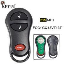 KEYECU 1x/3x FCC: GQ43VT13T Novo 3 Botão do Controle Remoto Chave Fob para Chrysler PT Cruiser 2001 2002 2003 2004 2005