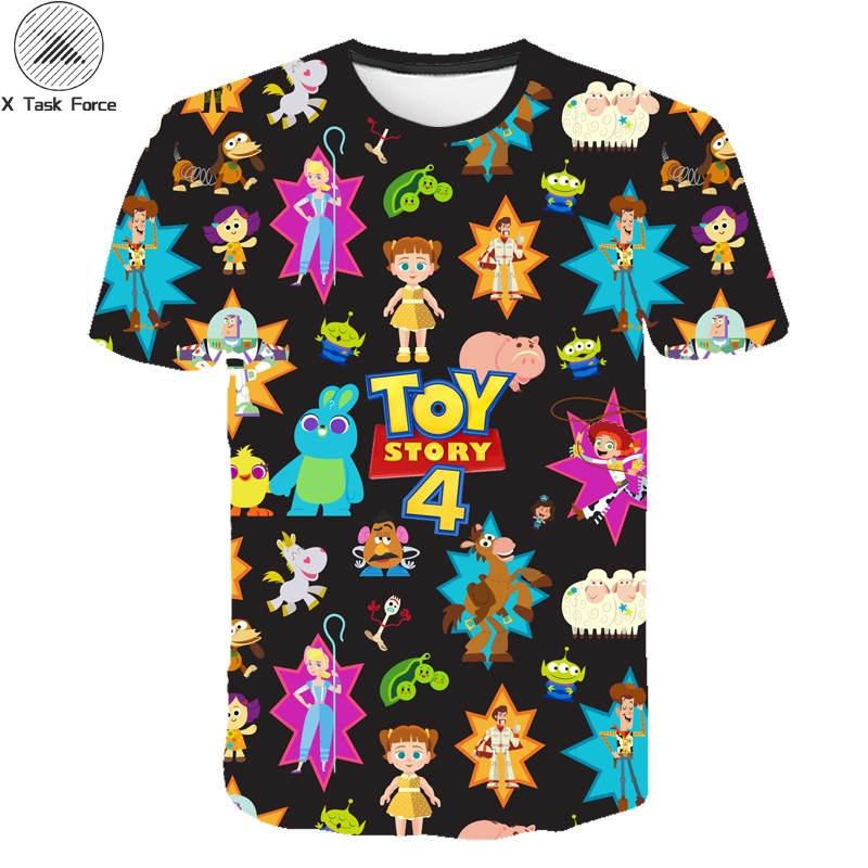 2019 New Funny T Shirts Kids Cartoon Movie Toy Story 4 3D Printed T-shirt Boys/girl Harajuku Style Tshirt Streetwear Tops
