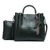 Composite Bag 2 Bags Set Fashion Designer Women Shoulder Bag With Small Messenger Bag High Quality