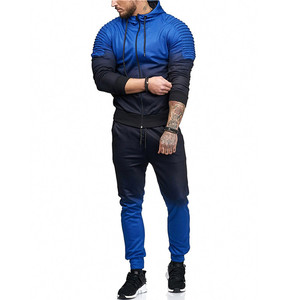 Image 3 - Litthing Zipper Tracksuit Men Set Sport 2 Pieces Sweatsuit Mens Clothes Printed Hooded Hoodies Jacket & Pants Track Suit Men