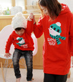 Autumn and winter 2017 thick family look hoodies clothing mother and daughter son father boy girl women men children clothes aut