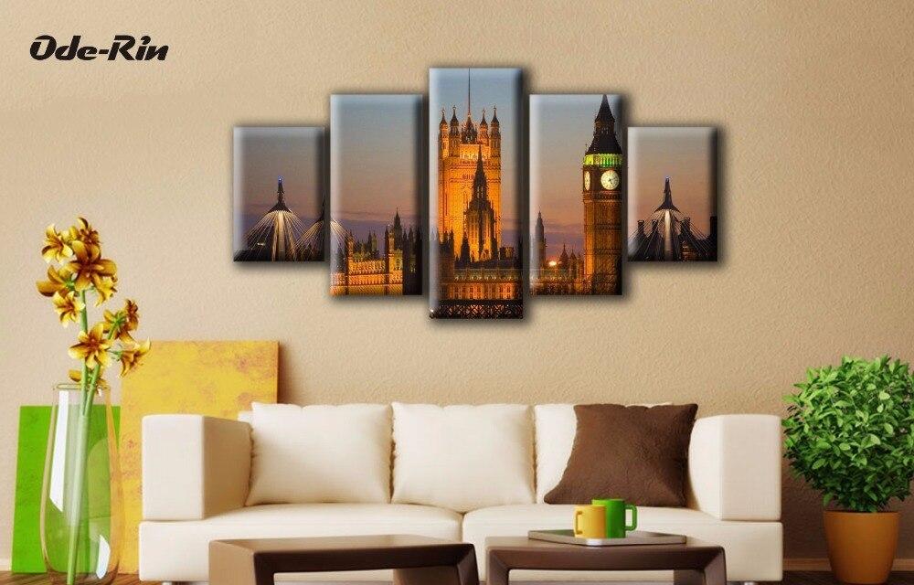 ᐅOde-rin moderno simple 5 unidades Lona de arte decoración ...