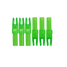 ID 6.2mm carbon shaft green nock 100 pcs for carbon arrow accessories archery bow free shipping shooting hunting