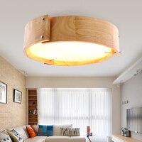 Японский стиль твердой древесины подвесной светильник бар простой привело Nordic лампы Ресторан творческая личность круглый Art Деревянный св