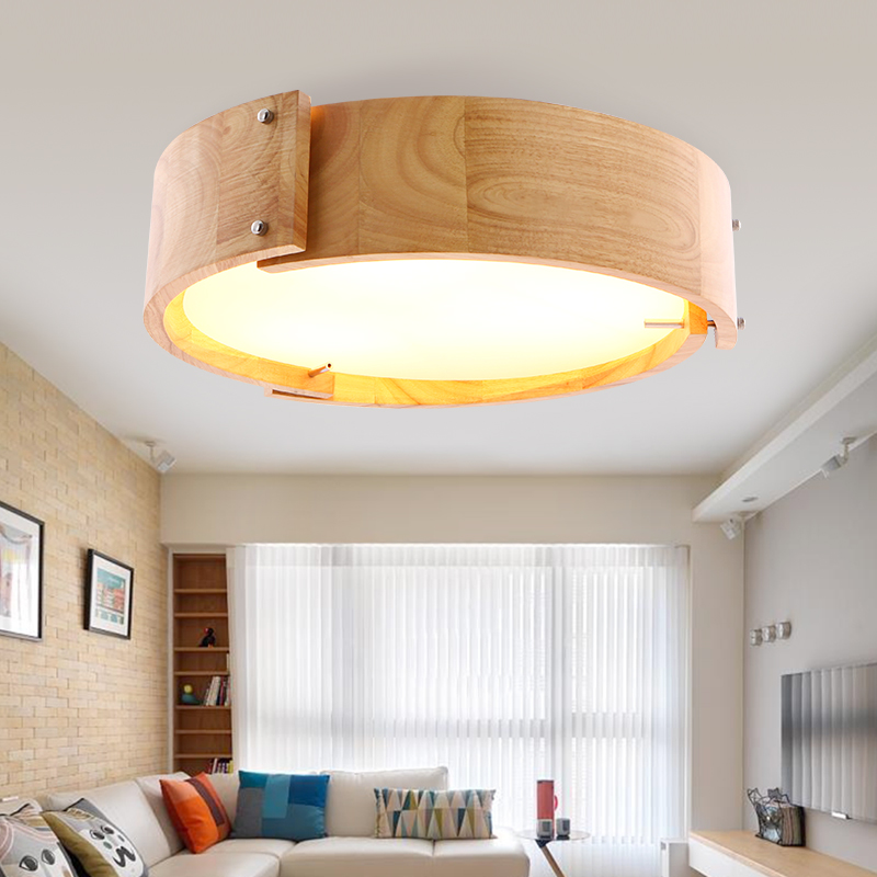 Japanese style solid wood Pendant Light bar simple LED Nordic restaurant lamp creative personality round art wooden lamp ZA MZ49 japanese style solid wood bar simple led nordic pendant lights a1 log restaurant lights creative personality round wood za
