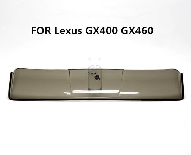 Teto solar escudos defletores de chuva tempo gruard shdows Acrílico para Lexus GX400 GX460 acessórios com 3 M de fita