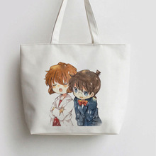 Detective Conan Kaitou Kiddo Japanese Anime Shopping Bags Handbag Canvas bag Cartoon  school bag Shoulder Tote bags AN071