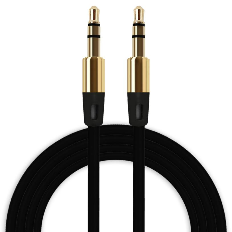 HL 2017 3.5mm Auxiliary Cable Audio Cable Male To Male Flat Aux Cable EF15E22 #4 #5 digital optical fiber male to male audio cable black 1000cm od 0 4