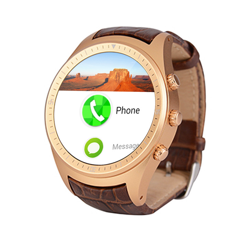 X5 Android 4 4 font b SmartWatch b font 1 4 AMOLED Display 3G WiFi GPS