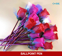 36pcs / lot , Novelty Artificial Rose Flower Ballpoint Pen , Valentines Gift Rose Ball Pen