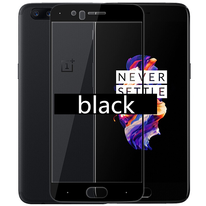 full cover Tempered Glass For OnePlus 5 a5000 1 5 Screen protective cover 5 5 inch oneplus5 smartphone case 9H on toughened in Phone Screen Protectors from Cellphones Telecommunications
