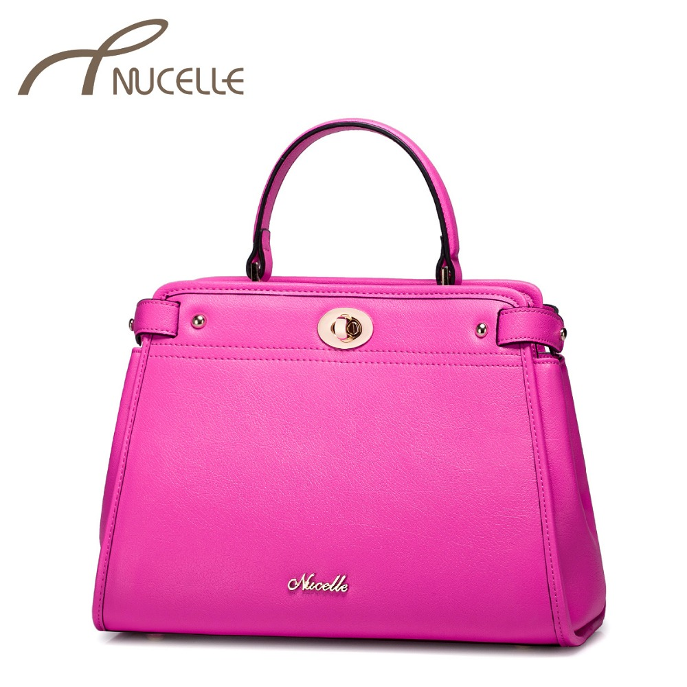 NUCELLE Women Split Leather Handbags Female Fashion All match Tote Crossbody Bag Ladies Elegant Leather Messenger Bags 1170655