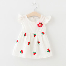 Summer 2018 new girl cotton strawberry dress princess baby