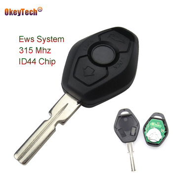 OkeyTech Remote Control Key Fob Case 3 Button 315MHZ ID44 Chip HU58 Blade Battery For BMW 3 5 7 Series E38 E39 E46 Good Shipping image
