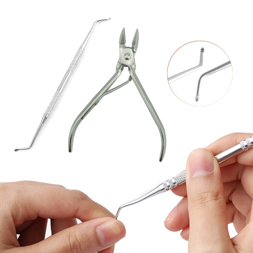 Stainless Steel Nail Cuticle Scissor Paronychia Podiatry Pedicure Spoon Pusher Remover Cutter Clipper Nipper Foot Care Tool CW31 in Foot Care Tool from Beauty Health