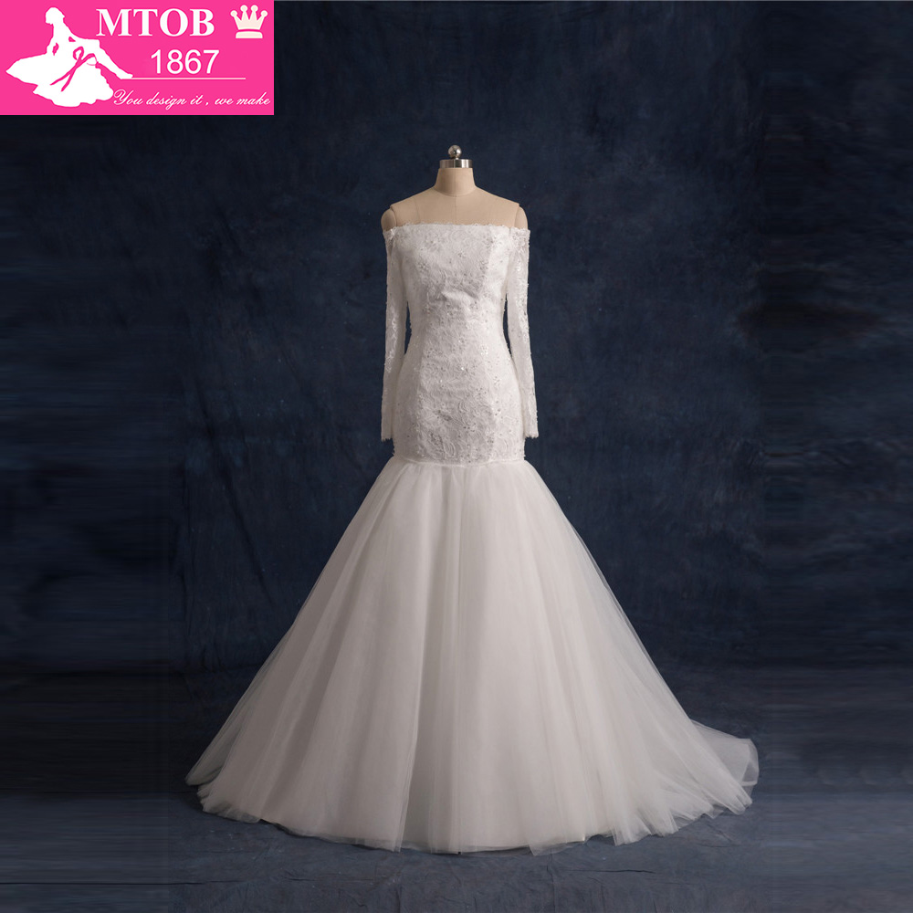 2019 Mermaid Wedding Dresses Long Sleeve Lace Vintage Weding Dress Shopping Sales Online Wedding Gowns Online Shop China W0922A