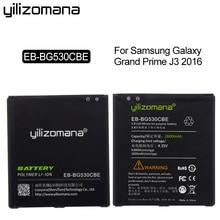 YILIZOMANA Original Phone Battery EB-BG530CBE 2600mAh For Samsung Galaxy Grand Prime J3 2016 G5308W G530 G531F G530H G530F yilizomana phone battery eb bg530cbe for samsung galaxy grand prime j3 2016 g530 g531f g530h g530f 2600mah replacement batteries